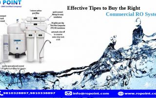 Effective Tips to Buy the Right Commercial RO System