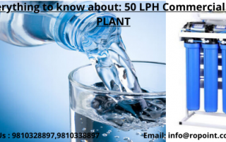 Everything to know about: 50 LPH Commercial RO PLANT