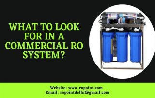 What to look for in a Commercial RO system